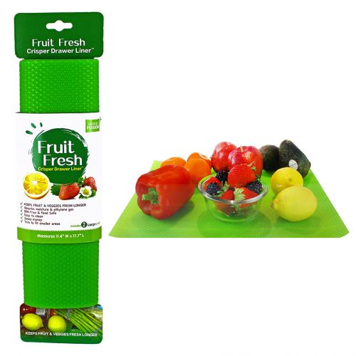 "GRAND FUSION ""FRUIT FRESH"" CRISPER DRAWER LINER SET 2 - GREEN"