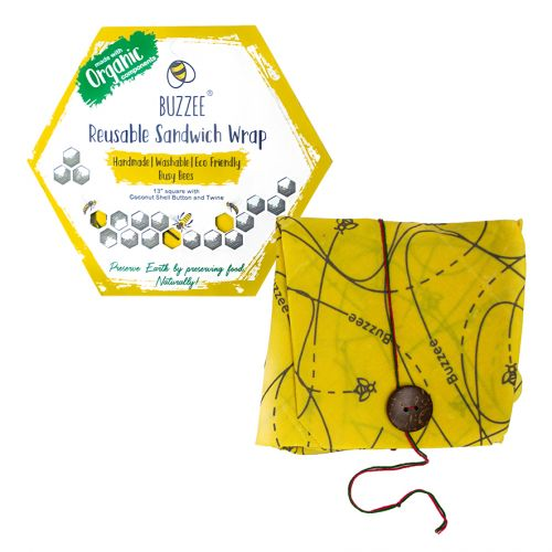 BUZZEE ORGANIC BEESWAX SANDWICH WRAP - BUSY BEES
