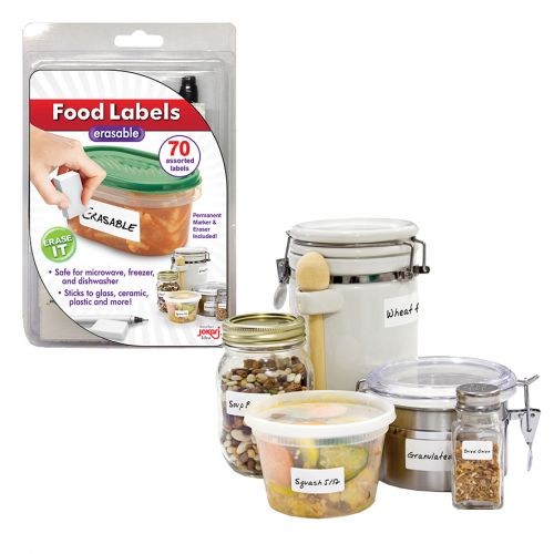JOKARI FOOD LABELS ERASABLE (PEN & ERASER)
