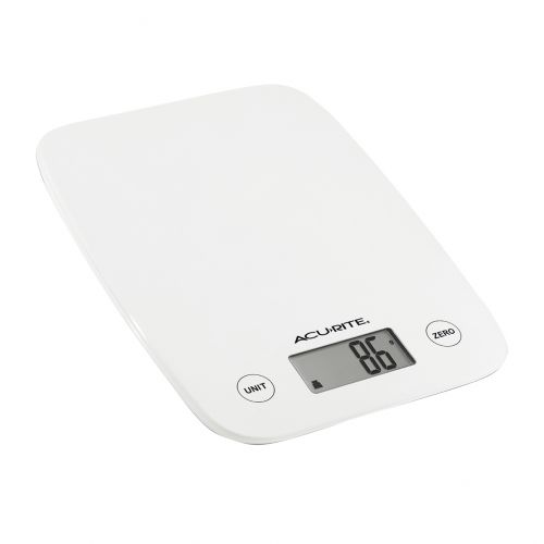 ACURITE COMPACT DIGITAL SCALE 1G/5KG - WHITE