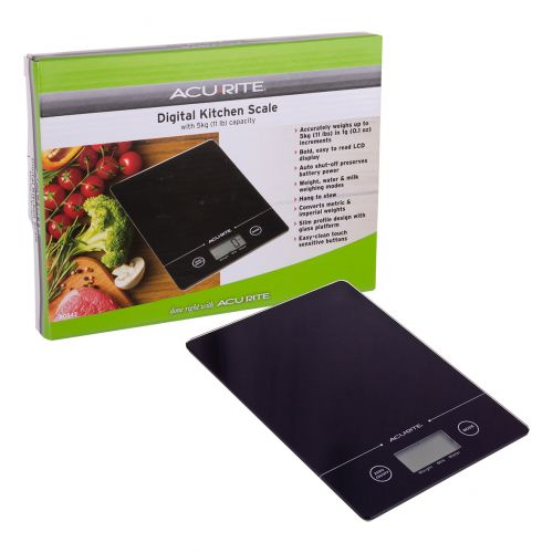 ACURITE SLIM LINE DIGITAL SCALE 1G/5KG - BLACK