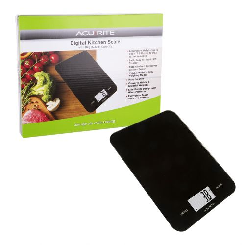 ACURITE LARGE SLIM LINE DIGITAL SCALE 1G/8KG - BLACK