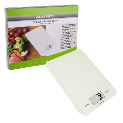 ACURITE LARGE SLIM LINE DIGITAL SCALE 1G/8KG - WHITE