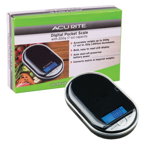 ACURITE POCKET DIGITAL SCALE 0.02G/200G - BLACK