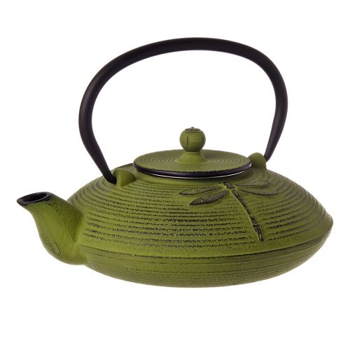 TEAOLOGY CAST IRON TEAPOT 770ML - DRAGONFLY - GREEN