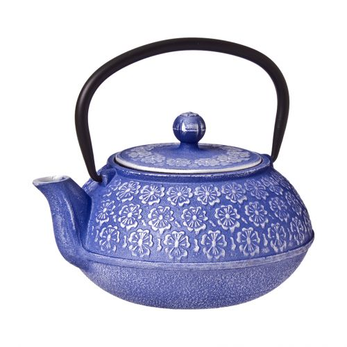 TEAOLOGY CAST IRON TEAPOT 900ML - CHERRY BLOSSOM - PURPLE