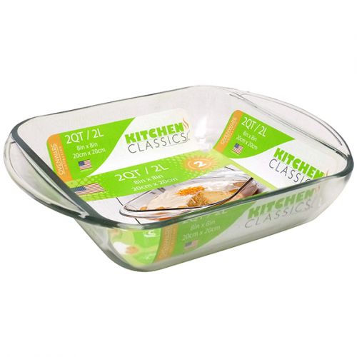 KITCHEN CLASSICS SQUARE BAKING DISH 2L 20 X 20CM