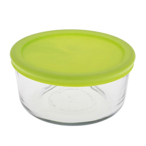 KITCHEN CLASSICS ROUND CONTAINER W/ GREEN LID 4 CUP/946ML