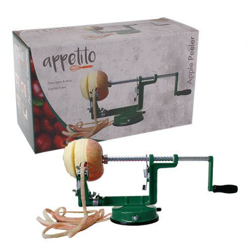APPETITO APPLE PEELER/CORER W/ SUCTION BASE - GREEN