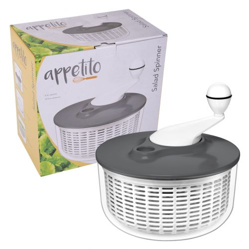 APPETITO SALAD SPINNER 5.5L - CHARCOAL