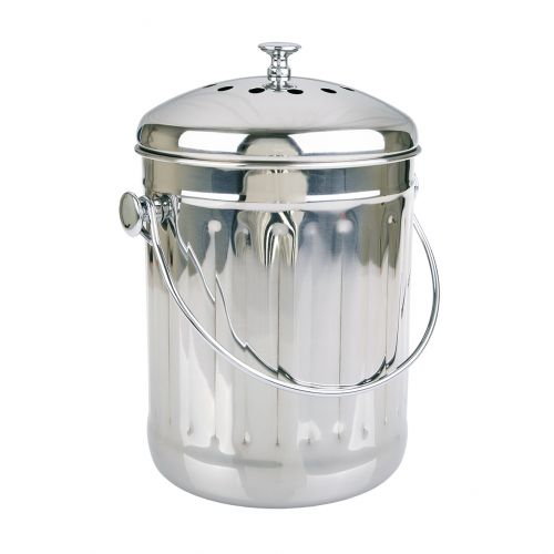APPETITO STAINLESS STEEL COMPOST BIN 4.5L
