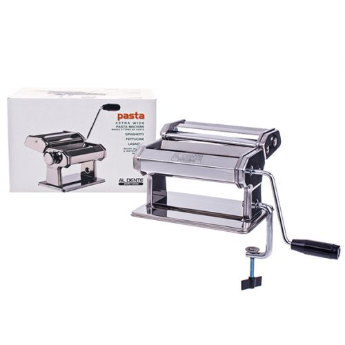 AL DENTE PASTA MACHINE (EXTRA WIDE) 180MM - CHROME