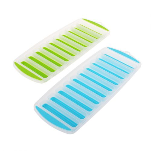 APPETITO EASY RELEASE 10 CUBE STICK ICE TRAY SET 2 - BLUE/LIME