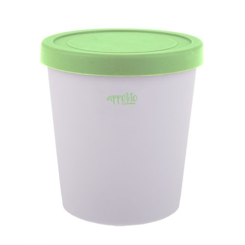 APPETITO ROUND ICE CREAM TUB 1L - GREEN