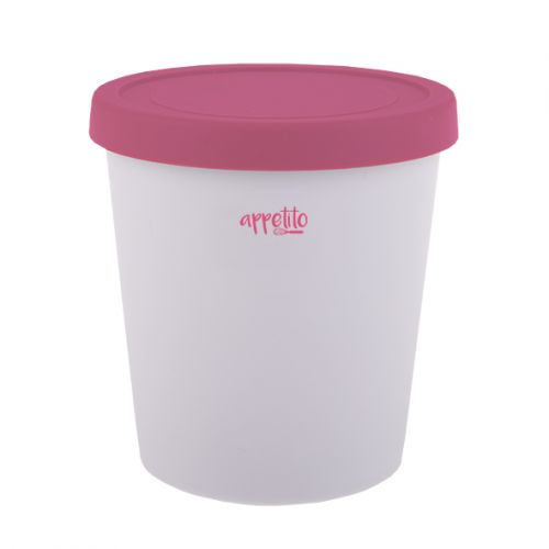 APPETITO ROUND ICE CREAM TUB 1L - PINK