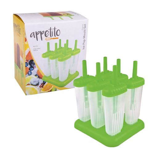 APPETITO GROOVY ICE POP MOULD SET 6 - GREEN