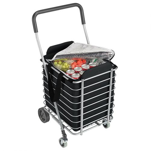 SHOP & GO SHOPPING CART INSULATED BAG - BLACK