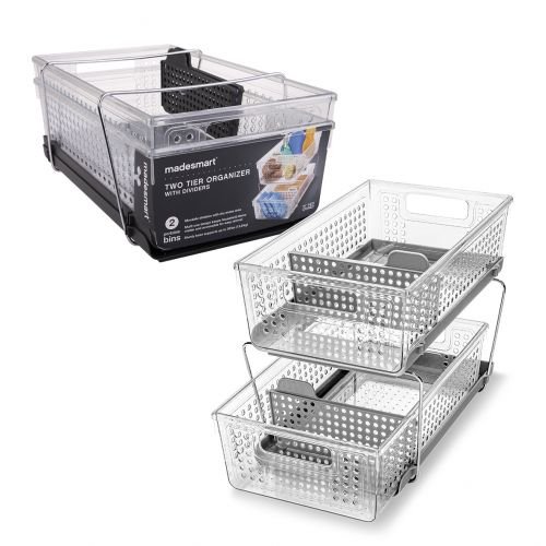 MADESMART TWO LEVEL STORAGE W/ DIVIDERS
