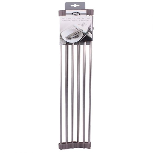 D.LINE OVER SINK ROLL-UP DRAINING RACK 48 X 24CM - GREY
