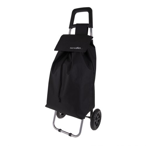 "SHOP & GO ""CLIO"" SHOPPING TROLLEY - BLACK"