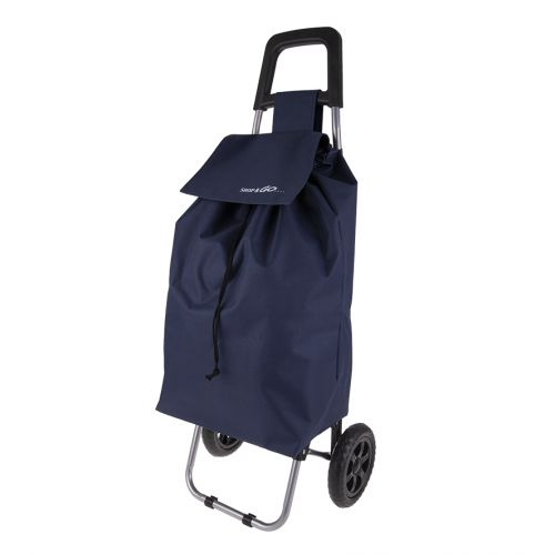 "SHOP & GO ""CLIO"" SHOPPING TROLLEY - NAVY"