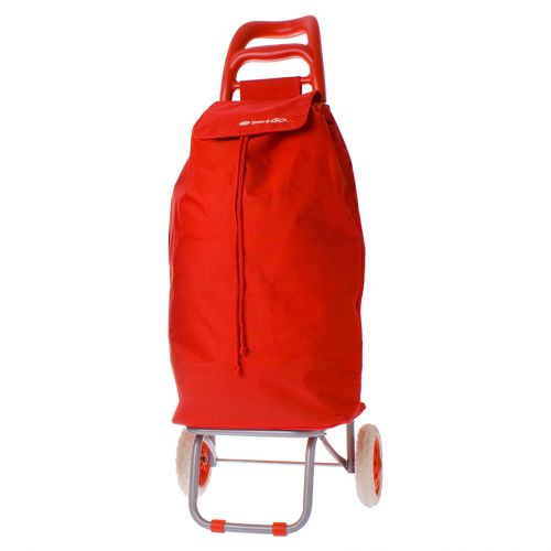 "SHOP & GO ""MODE"" SHOPPING TROLLEY - RED"