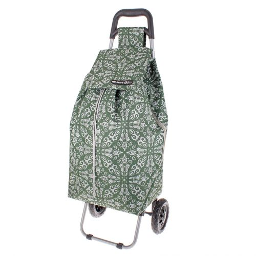 "SHOP & GO ""SPRINT"" SHOPPING TROLLEY - BOHEMIAN GREEN"