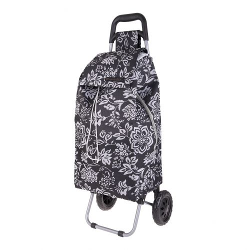 "SHOP & GO ""SPRINT"" SHOPPING TROLLEY - CAMELLIA BLACK"