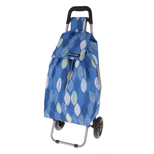 SHOP & GO SPRINT SHOPPING TROLLEY - GRAPHIC LEAVES