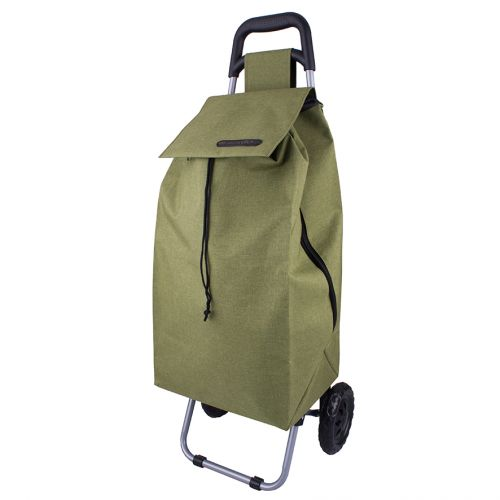 "SHOP & GO ""SPRINT"" SHOPPING TROLLEY - SAGE GREEN"