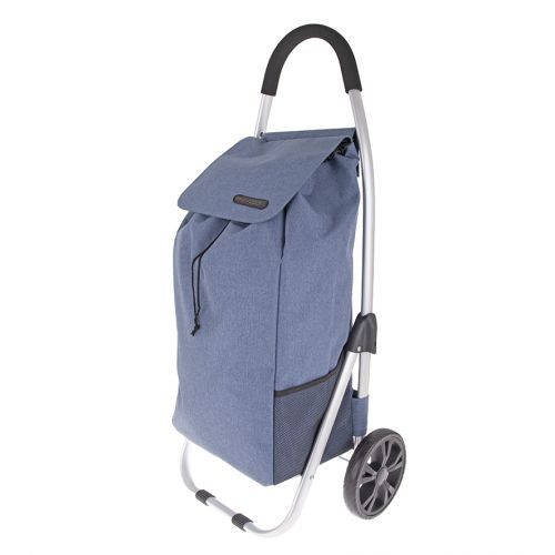 "SHOP & GO ""URBAN"" ALUMINIUM SHOPPING TROLLEY - STEEL BLUE"