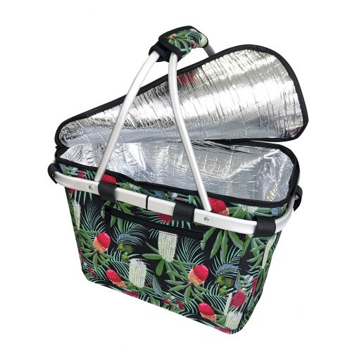 SACHI INSULATED CARRY BASKET W/ LID - BANKSIA