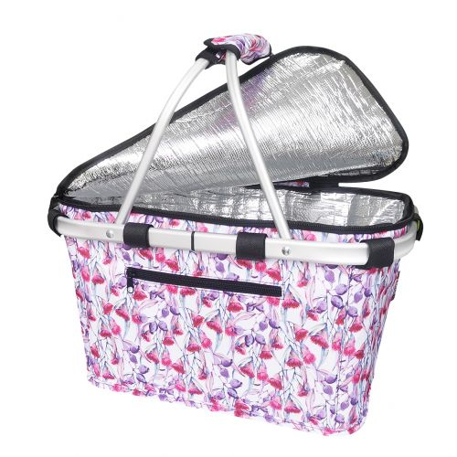 SACHI INSULATED CARRY BASKET W/ LID - GUMNUTS