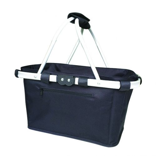 SACHI TWO HANDLE CARRY BASKET - BLACK