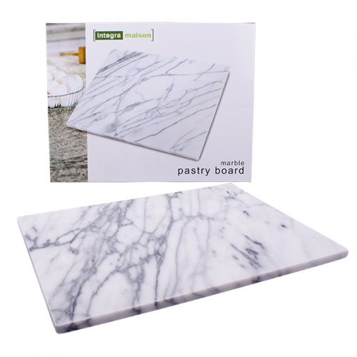 INTEGRA GREY MARBLE PASTRY BOARD 40 X 30CM