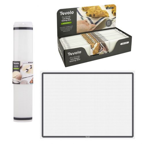 "TOVOLO ""PRO-GRADE"" PASTRY MAT (CDU 10) 63.5 X 45.5CM - CHARCOAL"