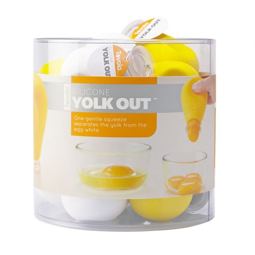 "TOVOLO ""YOLK OUT"" SILICONE EGG SEPARATOR (CDU 12) - YELLOW"