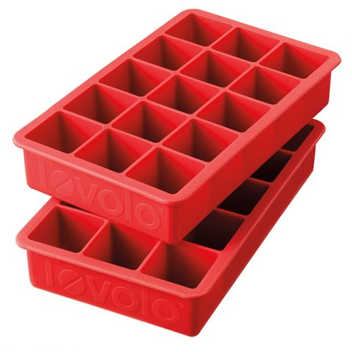 TOVOLO PERFECT CUBE ICE TRAYS SET 2 - APPLE RED