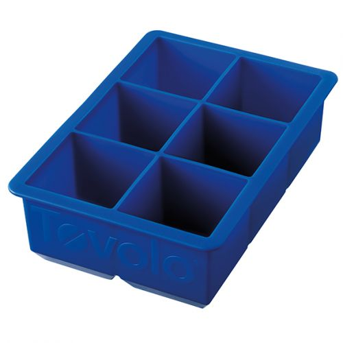 """TOVOLO KING CUBE ICE TRAY - 2"""" CUBES - BLUE"""