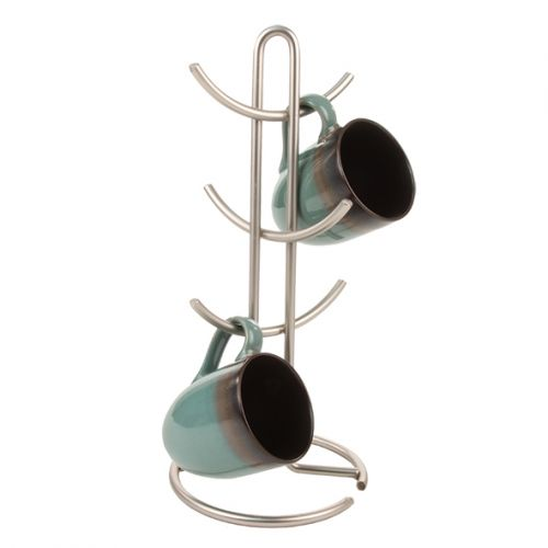 "SPECTRUM ""EURO"" 6 CUP COFFEE MUG TREE - SATIN"
