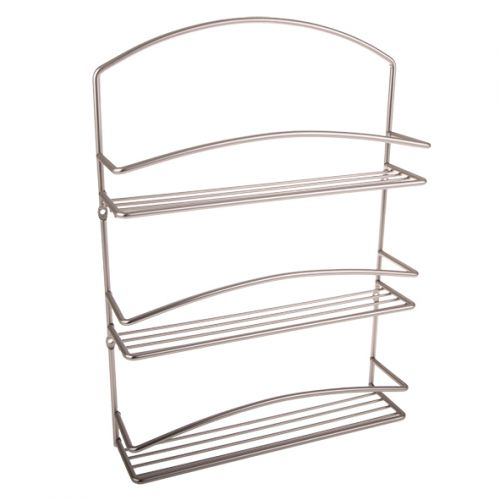 "SPECTRUM ""EURO"" 3-TIER SPICE RACK 40.6 X 29.2 X 7.6CM (GIFT BOXED) - SATIN"