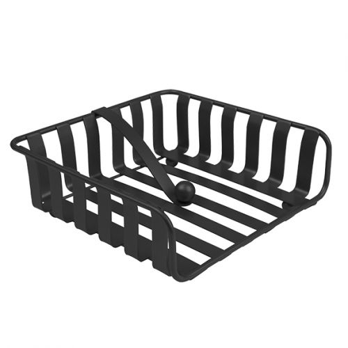"SPECTRUM ""STRIPED"" WEIGHTED NAPKIN HOLDER - BLACK"