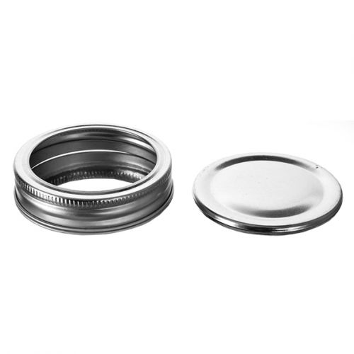 OLD FASHIONED PRESERVING LIDS & RINGS WIDE MOUTH PACK 6
