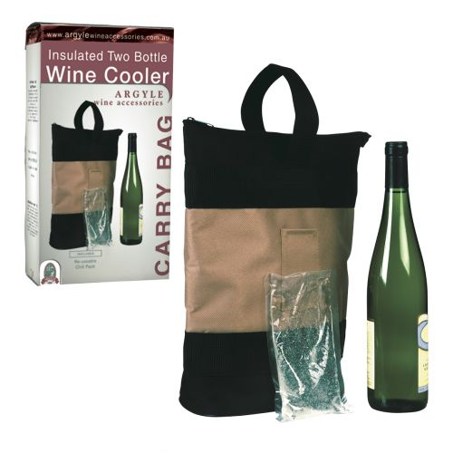 ARGYLE 2 BOTTLE INSULATED WINE CARRY BAG
