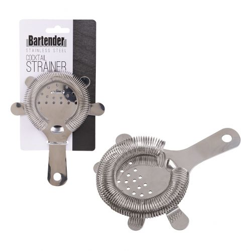 BARTENDER STAINLESS STEEL COCKTAIL STRAINER