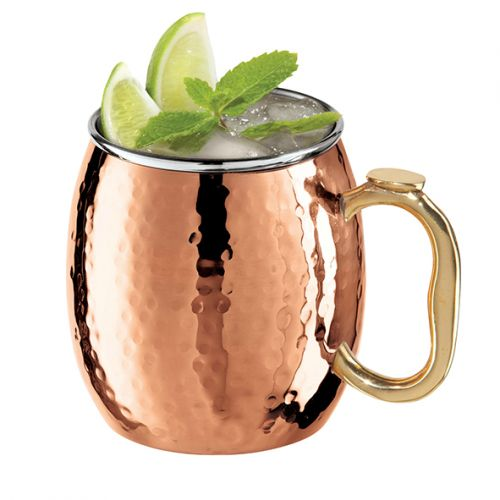 OGGI MOSCOW MULE MUG HAMMERED COPPER PLATED 530ML