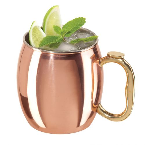 OGGI MOSCOW MULE MUG COPPER PLATED 600ML
