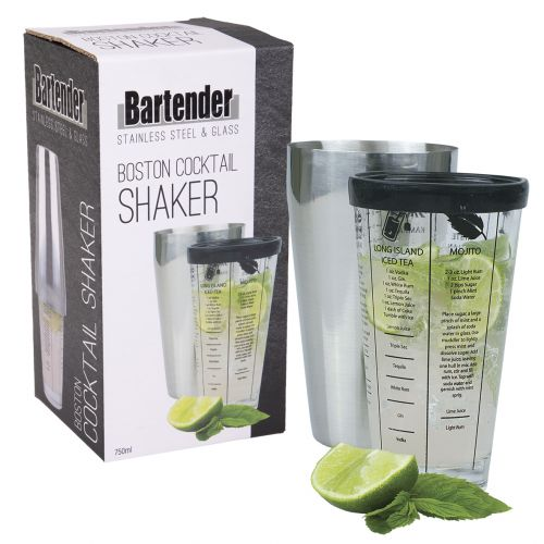BARTENDER BOSTON COCKTAIL SHAKER 750ML