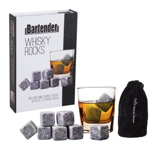 BARTENDER WHISKY ROCKS SET 9 W/ BAG