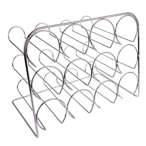 BARTENDER WINE RACK 12 BOTTLE - CHROME